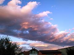 Nubes del atardecer, 1