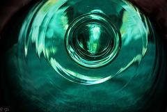 Victorian green glass