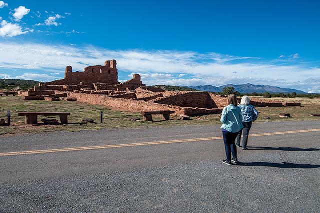 Shari and Marilyn at a New Mexico Pueblo