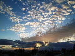 Nubes del atardecer, 2