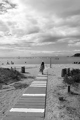 Le chemin de la plage .