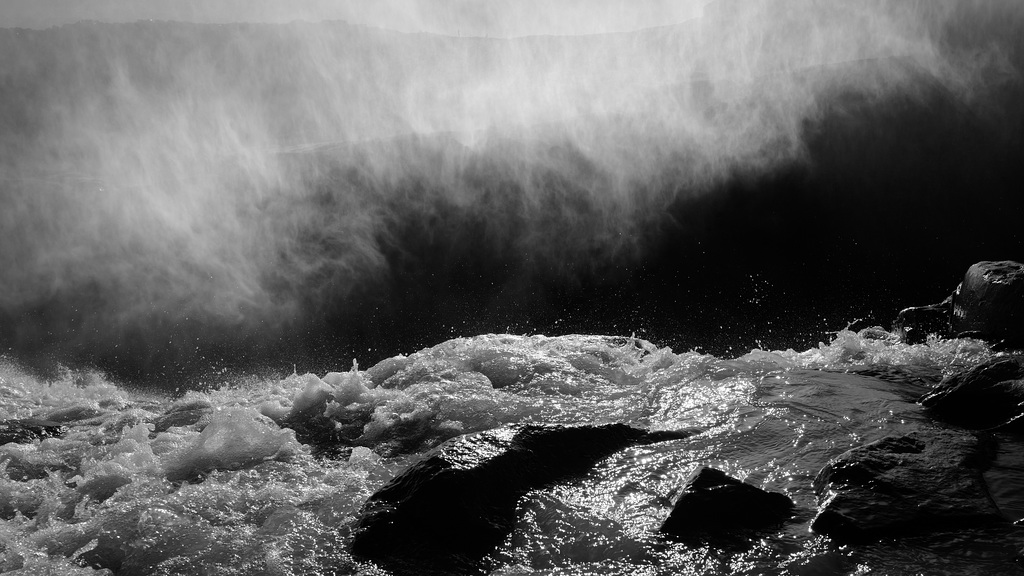 Dettifoss waterfall, Iceland BW L1040558