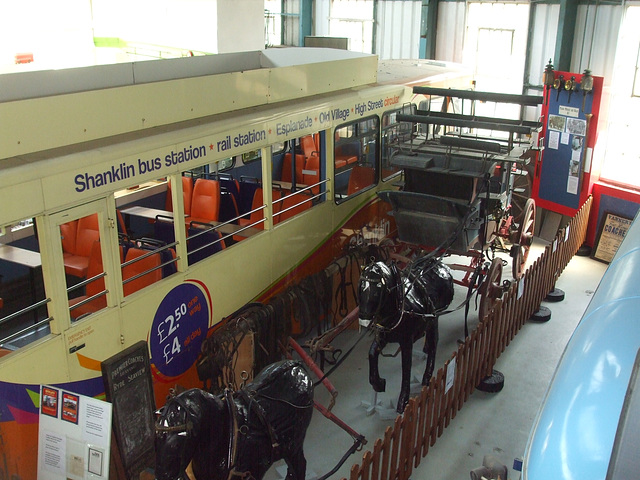 DSCF8779 Exhibits at the Isle of Wight Bus and Coach Museum - 6 July 2017