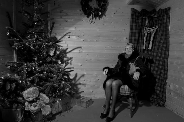 Hélène  / Une belle Dame parmi son décor de Noël