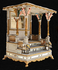 wooden Huge Temple with elephant figure and lion legs with so ornate