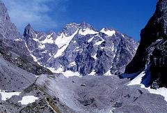 Vue sur Glacier noir Htes Alpes