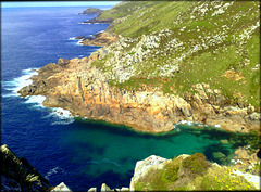 View from Bosigran Head to Gurnard's Head, Zennor, Cornwall
