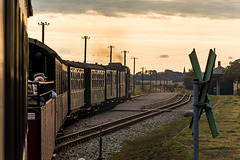 Eisenbahnromantik - dem Abend entgegen