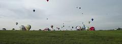 LMAB 20210731 Décollage de montgolfières. Accéléré 7x