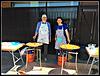 Preparando las paellas