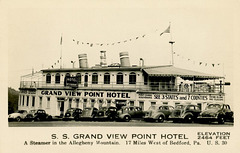 Grand View Ship Hotel—A Steamer in the Allegheny Mountains