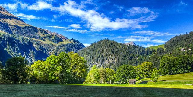 Das Lechtal bei Hägerau (270°)