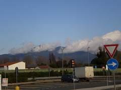 View to the Apenine Mountains.