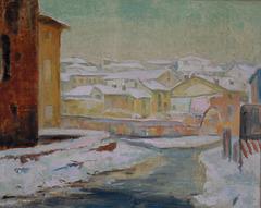 Pavia sotto la neve