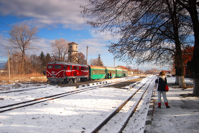 Photographing the railway