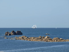 P8173399ac Sailing Tall Ship on Horizon