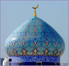 Oman: La grande cupola della moskea di Mutrah