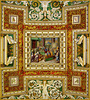 Five squares...      Virgin Mary in worship and the Holy Spirit descends upon Jesus in the form of a dove...