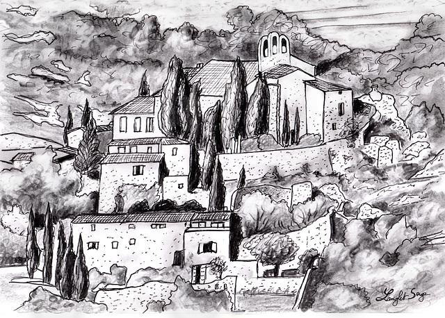 Vue de Méthamis...View of Méthamis......