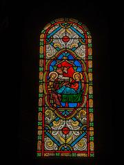 MONACO: Un vitrail de la Cathédrale de Monaco. 01