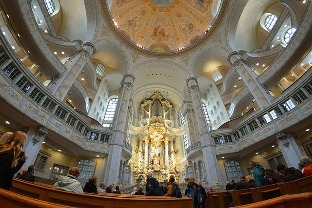Die Frauenkirche in Dresden (4xPiP)