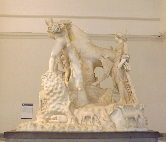 The Farnese Bull in the Naples Archaeological Museum, July 2012