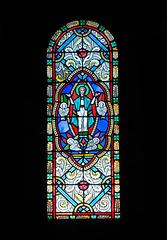 MONACO: Un vitrail de la Cathédrale de Monaco. 02