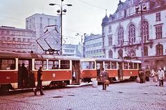 Halle (D) // à l'époque RDA; damals DDR) Avril / April 1977. (Diapositive numérisée).