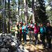 Unsere Wandergruppe am Gösing-Gipfel / Our hiking group at Goesing summit