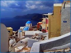 Santorini : Oia accarezzata dal sole