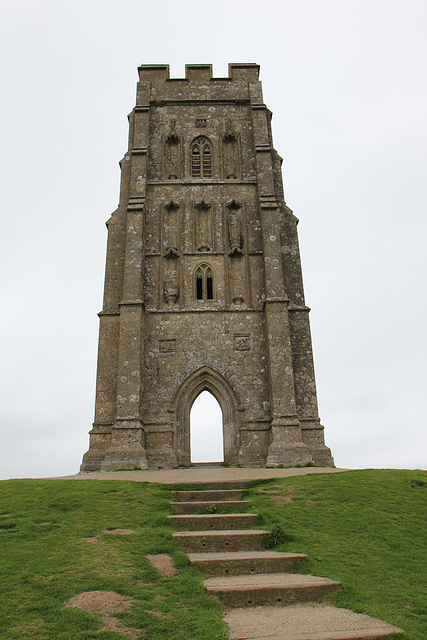 Ruin of St Michael's Church on Glastonbury tor