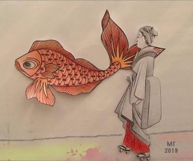Rencontre .....Hiroshige  et un graff ....