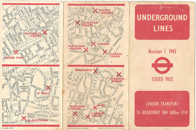 Underground Lines No1 - London 1943 - outside