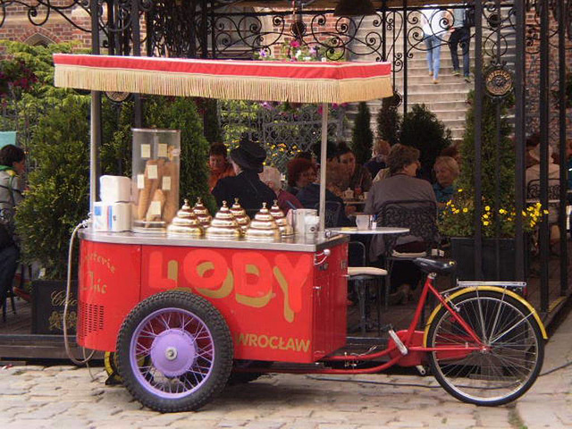 Ice cream tricycle.