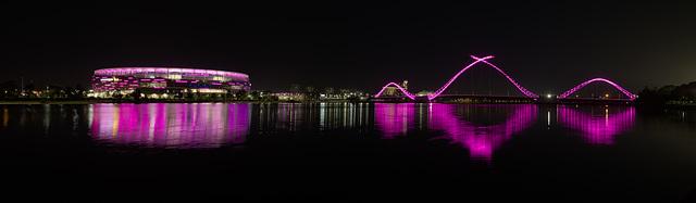 Perth Foot Ball Stadium and Foot bridge