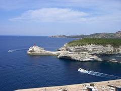 Leuchtturm Bonifacio, Korsika, Hafeneinfahrt
