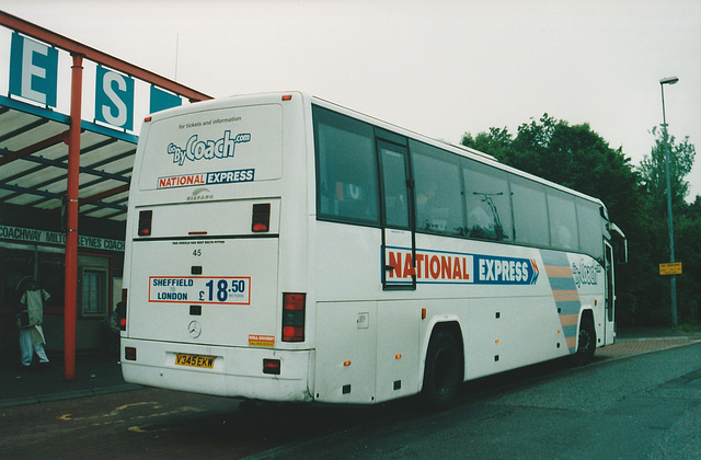 Yorkshire Traction V345 EKW at Milton Keynes - 6 Jun 2002