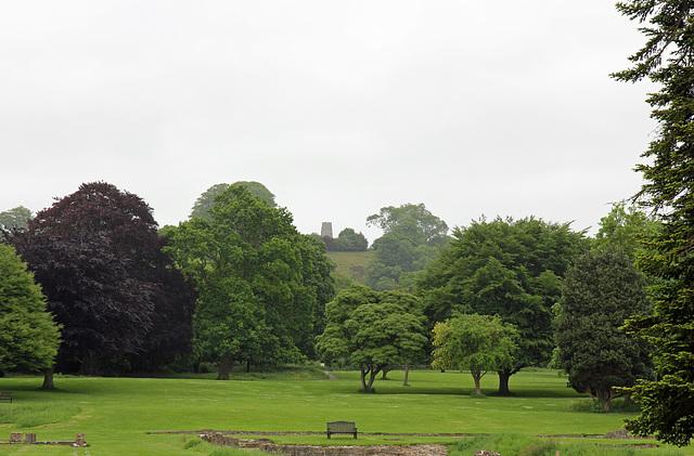 Glastonbury Tor from Glastonbury Abbey