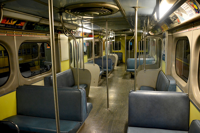 Canada 2016 – Halton County Radial Railway – Toronto subway interior