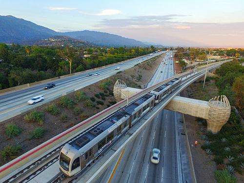 Metro Rail 210 bridge