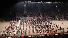 """Massed pipes and drums depart playing """"The Black Bear"""" ( part 1 )"""