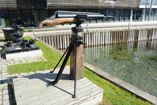 Norway, Harpoon Gun - Exhibit of the Polar Museum in Tromsø