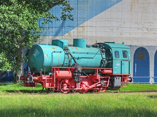 (174/365) Dampfspeicherlok, Lok Nr. 6, ehemalige Werklok der Stadtwerke Chemnitz
