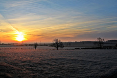 A frosty morning sunrise over Lincolnshire