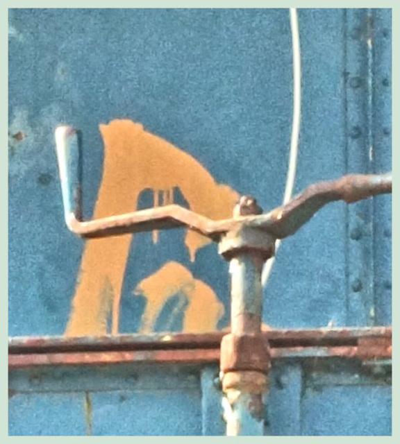 Bremskurbel an einem Güterwaggon