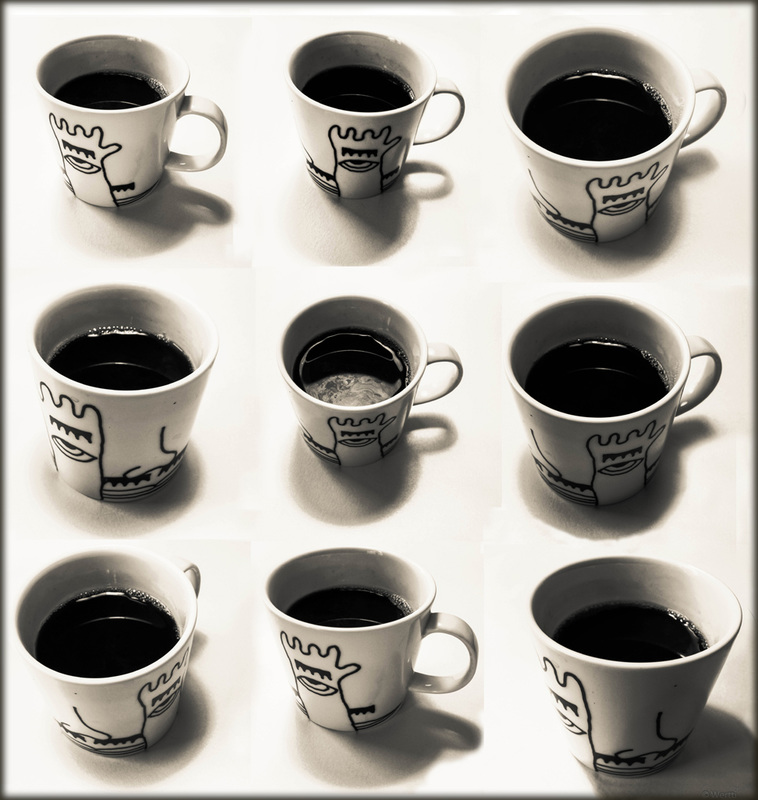 black raybans  black coffee