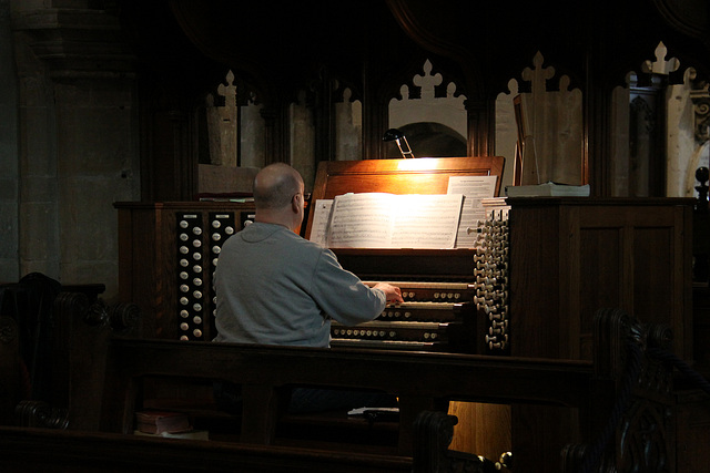 The organist entertains