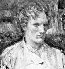 Portreto de Vasilij Eroŝenko fare de  Tsune Nakamura, 1920, oleopentraĵo  - Nacia Muzeo de Moderna Arto en Tokio