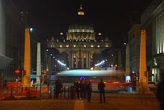 Nachts an der Via Della Conciliazione