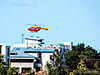 Helicopter over Hamilton Hospital.